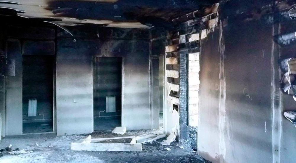 Клининг после пожара в Пушкине
